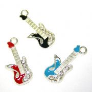 Musical enamel charms